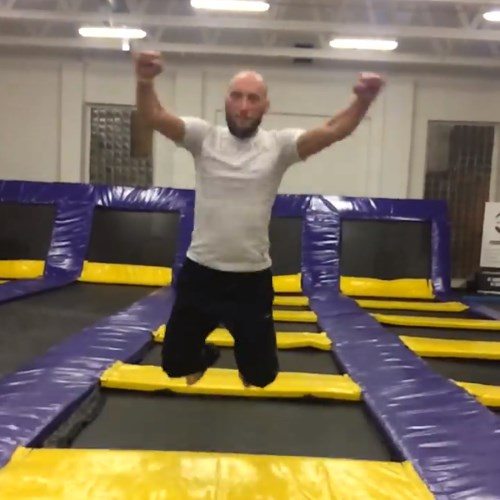 CEO jumping